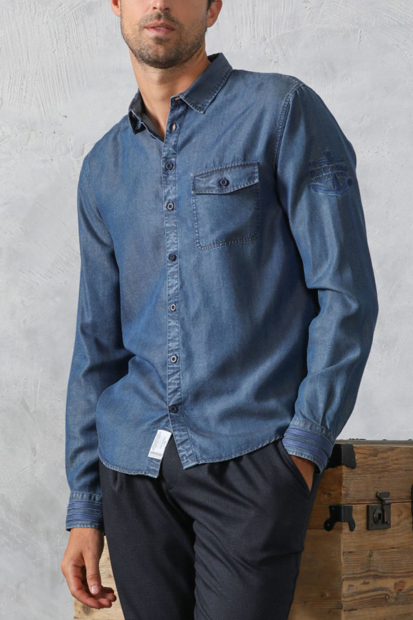 Camisa Denim Officier