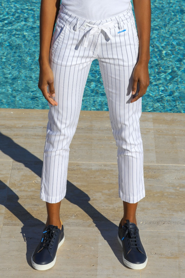 Striped Tencel Trousers