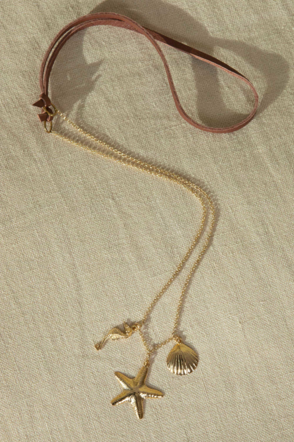 Sea Jewels - Golden Necklace