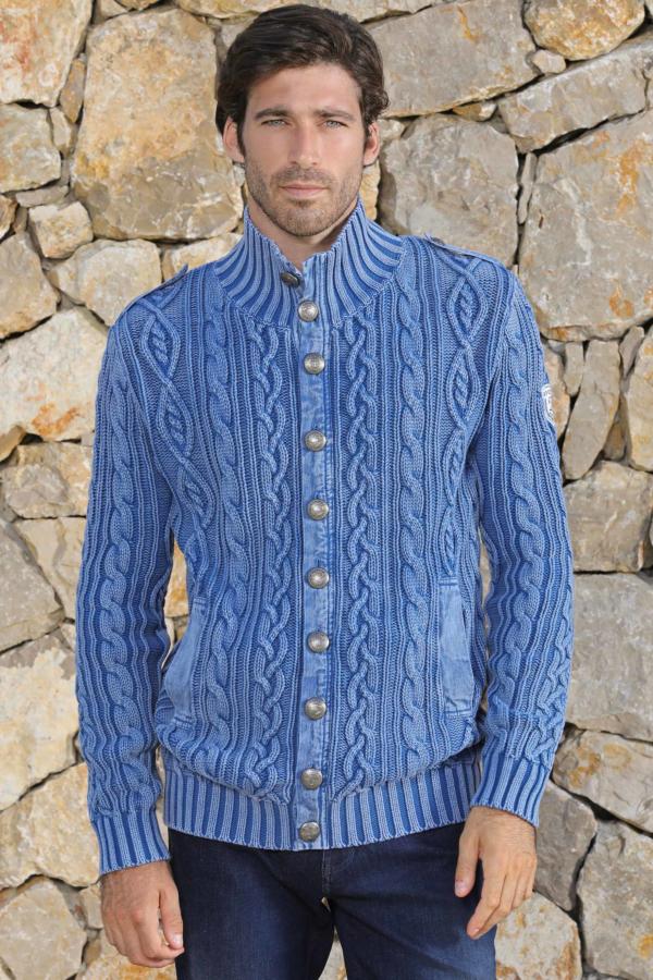 Cardigan tricô trançado