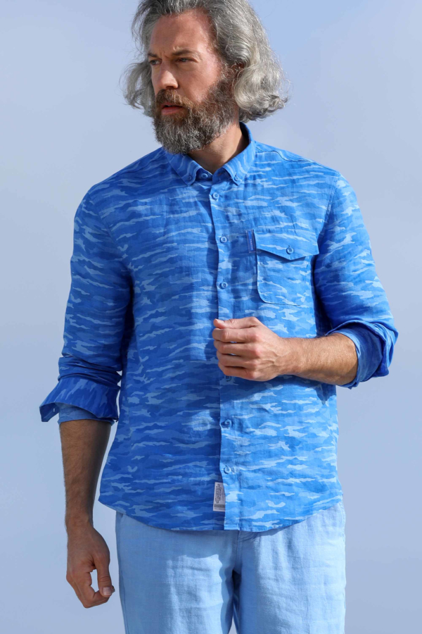 Camicia lino Bleu Milan