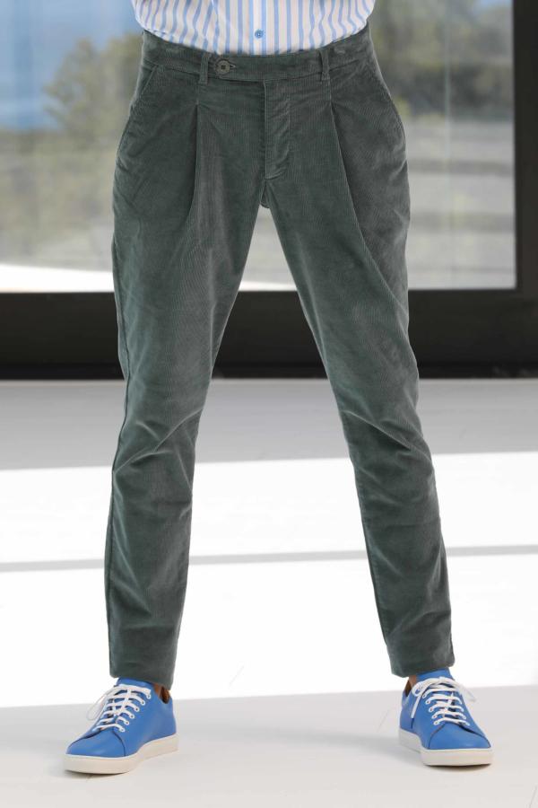 Pantalon à Pinces Velours