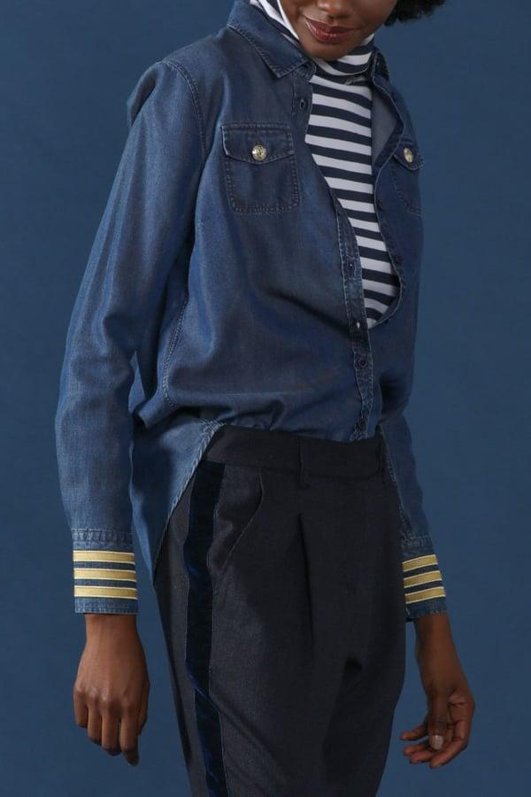 Camisa Denim Officier