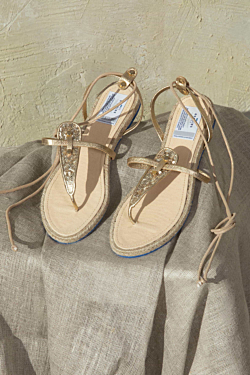 sandals with jute flat sole