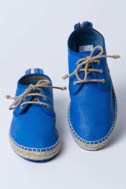 blue sisal wedge man shoes
