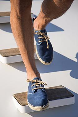 navy blue suede espadrilles for men