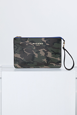 Leather bag camouflage pattern Woman Man