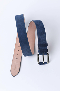 Suede belt Blue Man