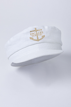 white linen sailor cap