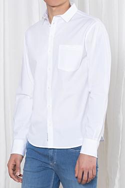 Men's White Cotton Shirt