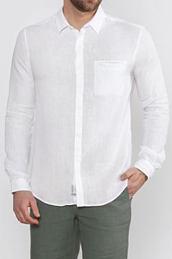 camicia di lino bianco uomo
