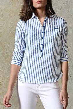 striped linen shirts womens
