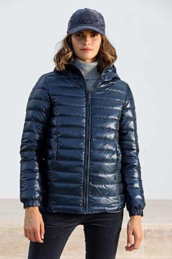 abrigo plumon mujer