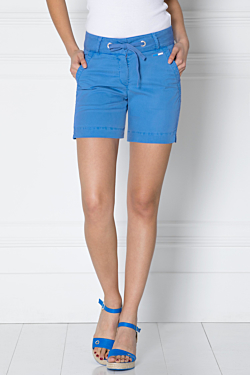 blue tencel-elasthanne shorts for women
