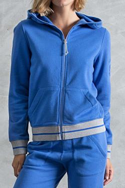 Woman's blue sport hoodie