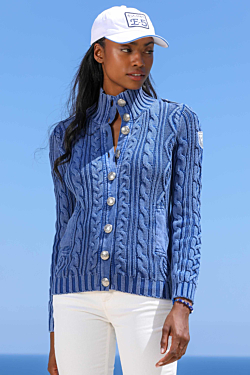 women cable-knit cardigan