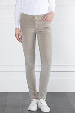 Beige corduroy trousers for women