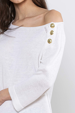 white linen sweater for woman