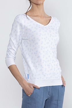 Starfish sweater women's printed knitwear