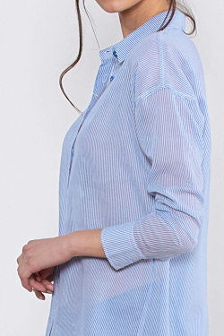 Striped White and Blue Women´s Shirt