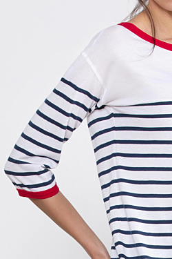 Cotton women´s striped t-shirt ESCALES