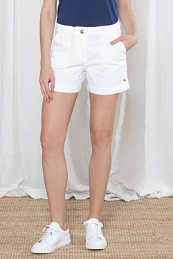 elegant White Women´s Short