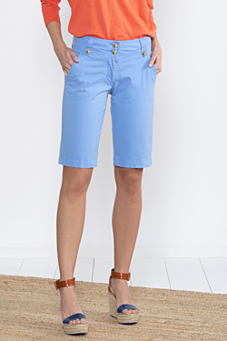 bermuda light blue da donna in cotone