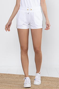 White Sport Shorts for Woman