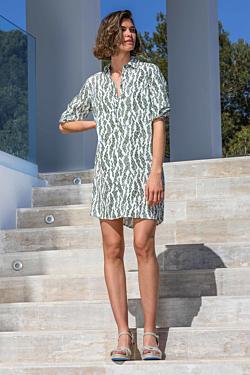 Vestido Camisero Largo Escales