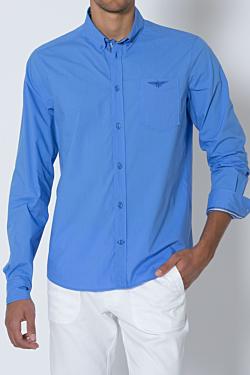 poplin polo shirt