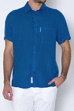chemise bleu cobalt pour homme