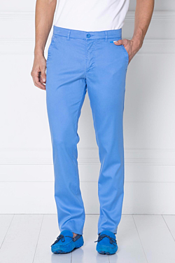 light blue Tencel chino Trousers for men