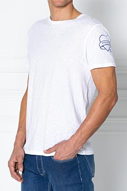 t-shirt blanc en coton très doux avec message I love ESCALES imprimé