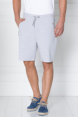 sport shorts for men - grey cotton