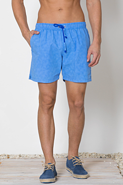 mens striped blue swim shorts