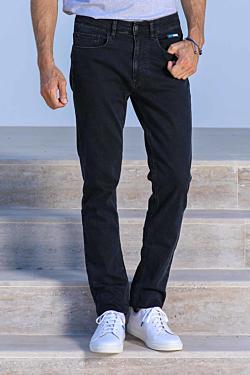 Cotton-Elasthane black jeans Man