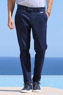 Denim trousers made in Cotton-Elasthane Man