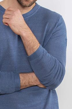 Jersey hombre de Lino, color Azul Oceano