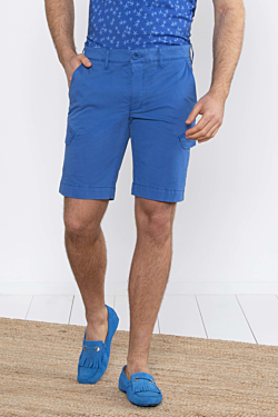 blue Cotton Bermuda Cargo