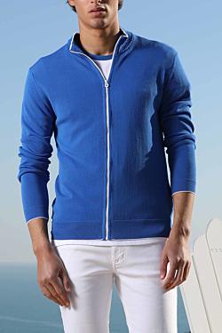 cardigan bleu homme