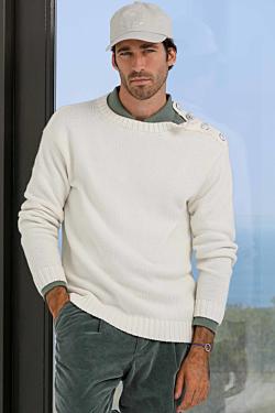 свитер с круглым воротом кашемир