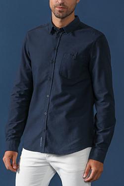 camisa oxford de algodoón