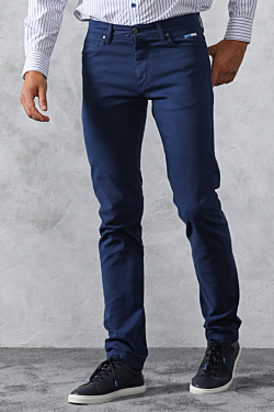 blue slim fit trousers mens