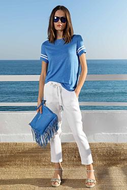 pantalón lino blanco