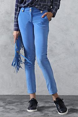 blue velvet trousers