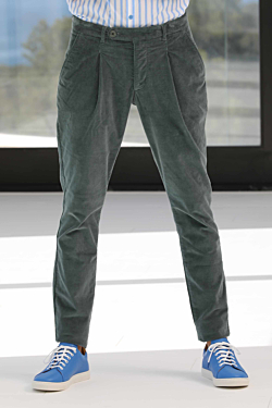 mens green corduroy trousers