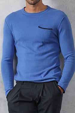 round neck sweater mens