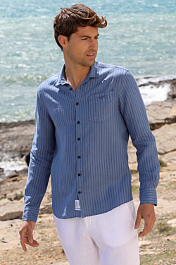 striped linen shirt mens