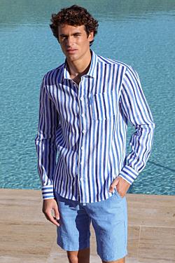 chemise a rayure homme lin