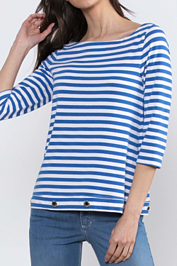 chic sailor striped t-shirt for woman